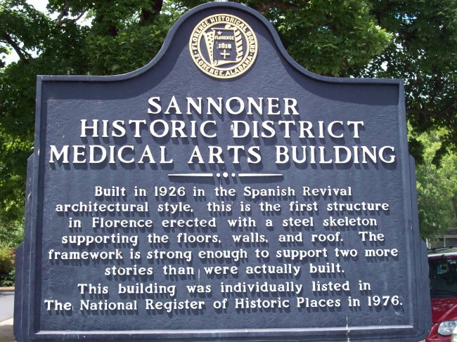 Sannoner Historic District Medical Arts Building historical Marker