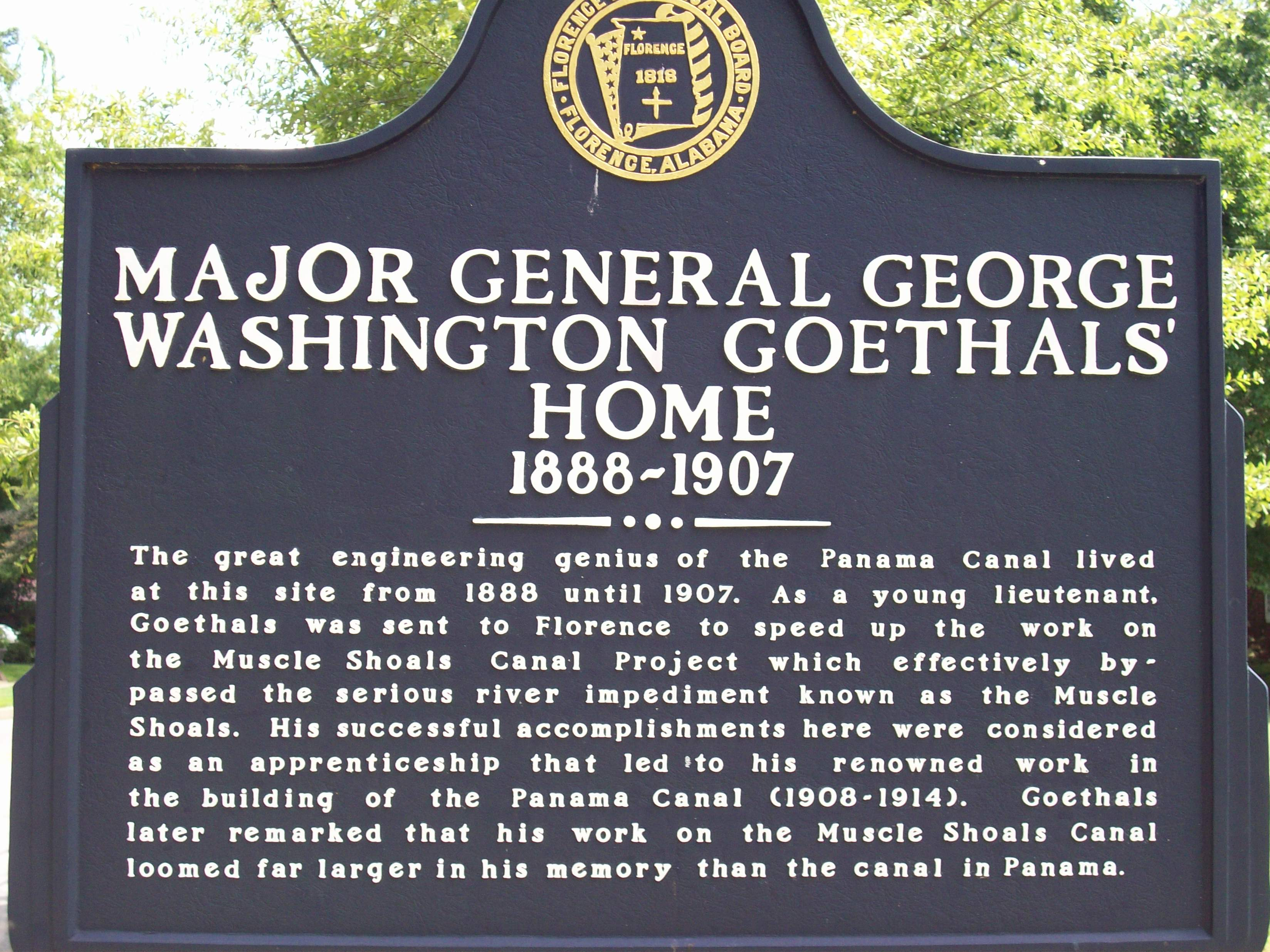Major General George Washington Goethals' Home – 1888-1907
