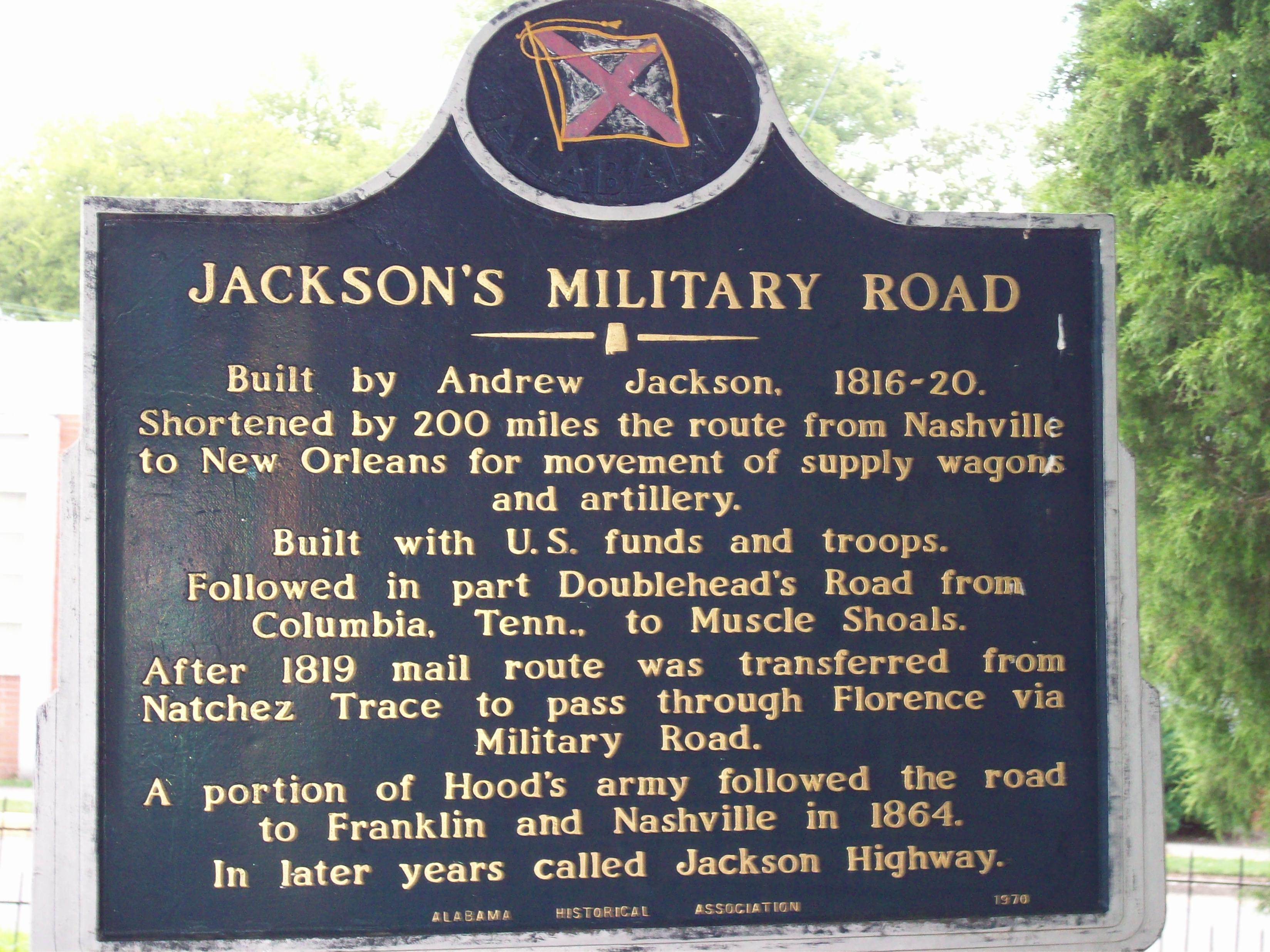 Jackson's Military Road historical marker